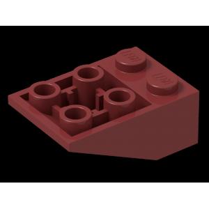 dakpan omgekeerd 33 3x2 met verbindingen tussen noppen dark red