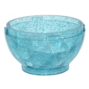 draken ei onderkant 4x4x1 2/3 glitter trans light blue