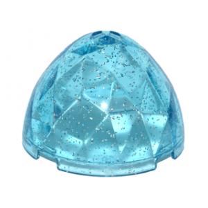 draken ei bovenkant 4x4x1 2/3 glitter trans light blue