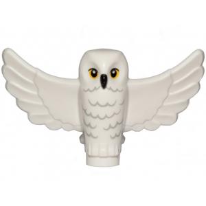 uil met gespreide vleugels hedwig white