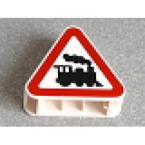 verkeersbord spoorweg overgang