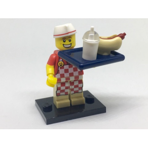 Hot Dog Vendor, Series 17 (Complete Set with Stand and Accessories)