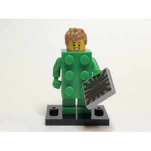 Brick Costume Guy, Series 20 (Complete Set with Stand and Accessories)