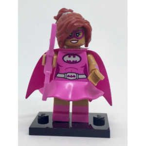 Pink Power Batgirl, The LEGO Batman Movie, Series 1 (Complete Set with Stand and Accessories)