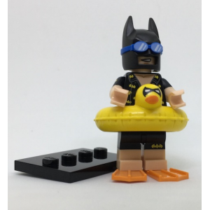 Vacation Batman, The LEGO Batman Movie, Series 1 (Complete Set with Stand and Accessories)