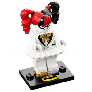 Disco Harley Quinn, The LEGO Batman Movie, Series 2 (Complete Set with Stand and Accessories)