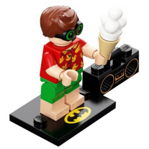 Vacation Robin, The LEGO Batman Movie, Series 2 (Complete Set with Stand and Accessories)