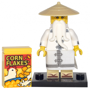 Master / Sensei Wu, The LEGO Ninjago Movie (Complete Set with Stand and Accessories)