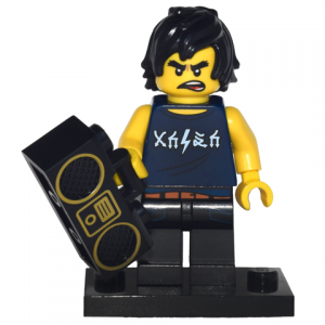 Cole, The LEGO Ninjago Movie (Complete Set with Stand and Accessories)