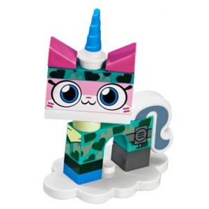 Camouflage Unikitty, Unikitty!, Series 1 (Complete Set with Stand)