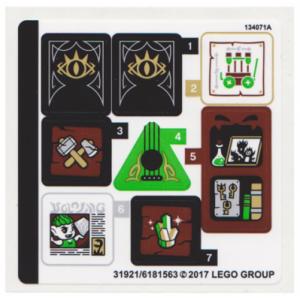 stickers voor set 41185