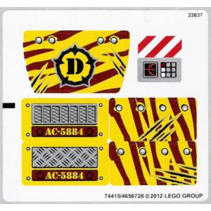 stickers voor set 5884